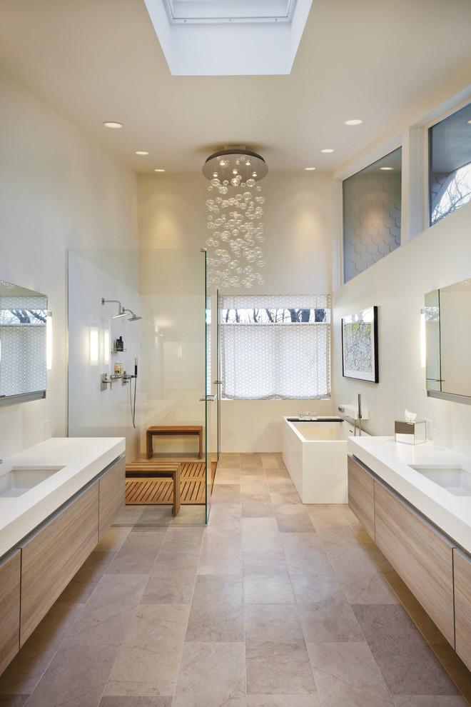 acrylic freestanding bathtub glass chandelier window shade floating vanities mirror glass shower door shower head bench wall sconces