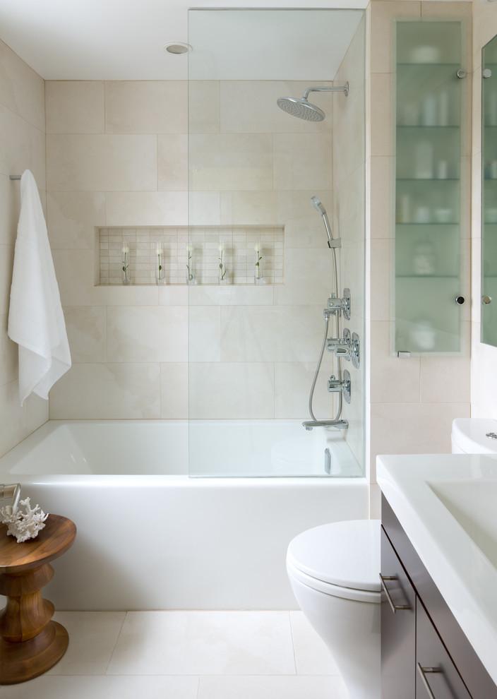 delta tub shower faucet frosted glass front door built in shelves built in tub brown vanity sink wooden table towel hook mirror