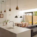 Light Over Kitchen Sink Brash Dome Pendant Lamps White Flat Panel Cabinet White Top Grey Sofa Sliding Glass Doors Curtain