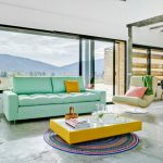 Round Area Rugs For Living Room Yellow Coffee Table White Top Marble Floor Tosca Sofa Colorful Pillows Lounge Chair Side Table Glass Window Sliding Glass Door