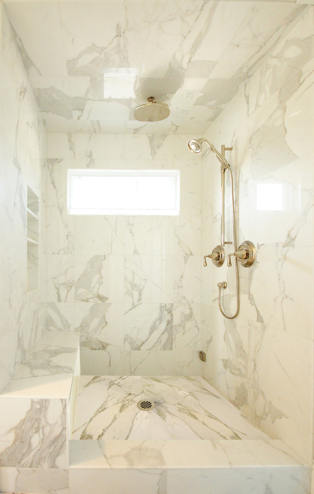 sliding shower head marble wall ceiling rain shower head brushed nickel shower head built in bench built in shelves window