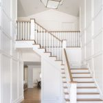 White Brown Stairs With Artistiv Lamp, A Hallways Under