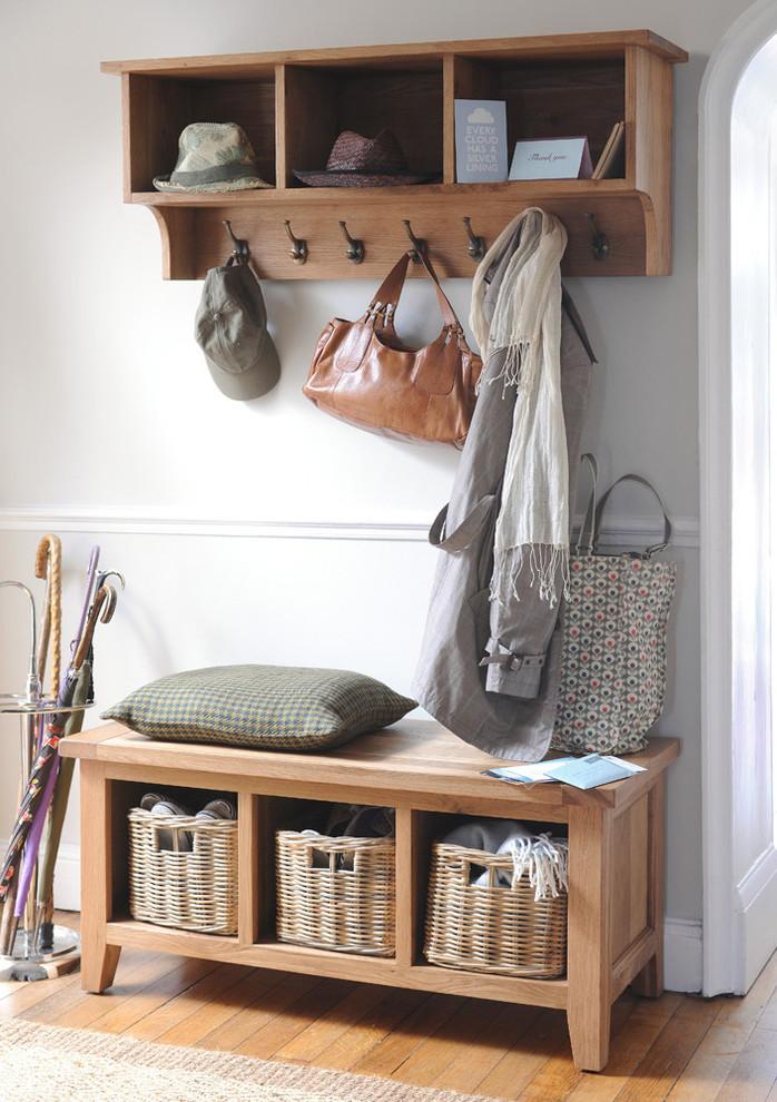 coat rack wall mount wooden rack metal hooks wooden bench with storage rattan baskets pillow umbrella holder wooden floor rug