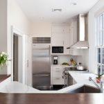 Elkay Lustertone Sink White And Wooden Countertops Windows Stovetop Oven Dishwasher Range Hood Faucet Microwave Backsplash