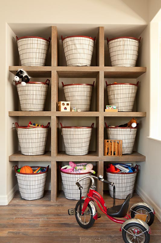 round colourful woven baskets for toys