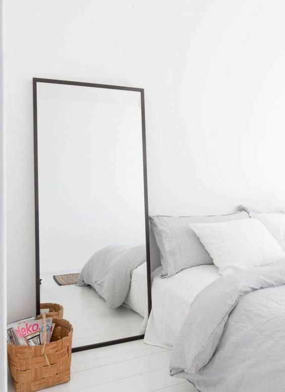 simple square mirror with black frame