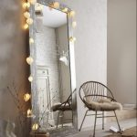 Square Mirror With Metal Frame, Lamps
