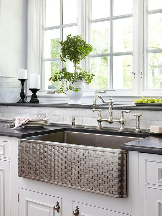 basket weave pattern large sink with stainless steel material