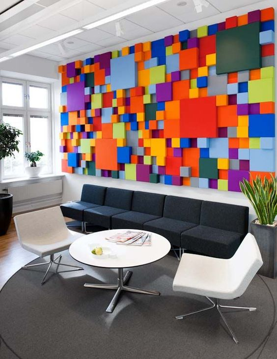 colorful blocks on the wall