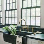 Green Marble Large Sink With One Absin, And Installed Undermounted