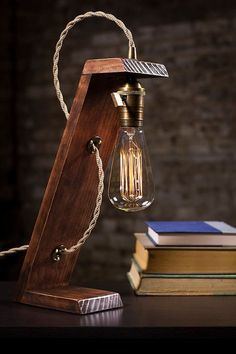 industrial bedside table lamp