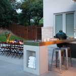 Metal Patio Dining Chairs Grey Stools Stovetop Grill Built In Worktop Windows Wooden And Metal Chairs Outdoor Dining Table Grey Floor Tile