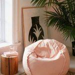 Pink Round Basic Bean Bag