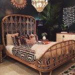 Rattan Bedding With Pattern In Headboard