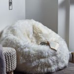 White Faux Fur Bean Bag