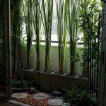 Balcony, River Stones, Plants On Stone Square Pots