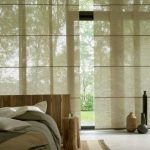 Bamboo Shades For Large Windows In Japanese House