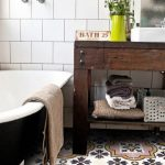 Beautiful Pattern Tiles For Bathroom With Pink Yellow White Colors
