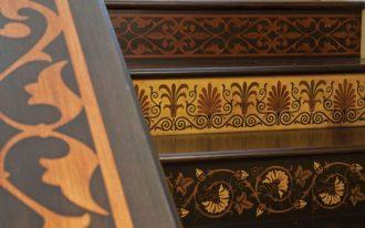 different tribal patterns on stairs