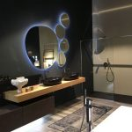 Medium Sized Round Bathroom Mirrors Surround With Little Round Mirrors In The Left Side