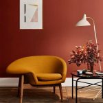 Mustard Comfortable Chair With Wooden Support, Comfortable Cushion With Reclining Arm Rest