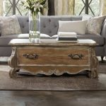 Repurposed Wooden Coffee Table With Antique Lines