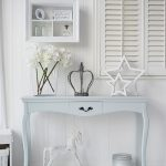 White Wooden Console Table With Curve On The Middle Front, Curve On Legs