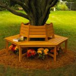 Wooden Round Bench Ring The Tree