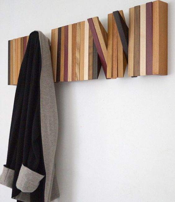wooden wall pinner in one line