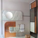 Bathroom, White Marble Floor, White Marble Accent Walls, Vanity, Shower Room