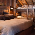 Bedroom, Rug, Wooden Bed Platform, Wooden Wall, Wooden Bunk Bed Platform With Stairs, Sconces