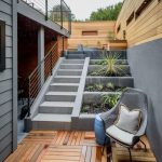 Grey Stairs, Grey Wall, Wooden Wall, Wooden Floor, Grey Horizontal Growing Planes