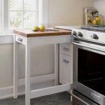 Kitchen, White Drawers Wooden Extendable Table, White Wall, White Top, White Backsplash, Silver Oven