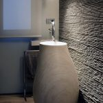 White Marble Tall Vase Shaped Sink