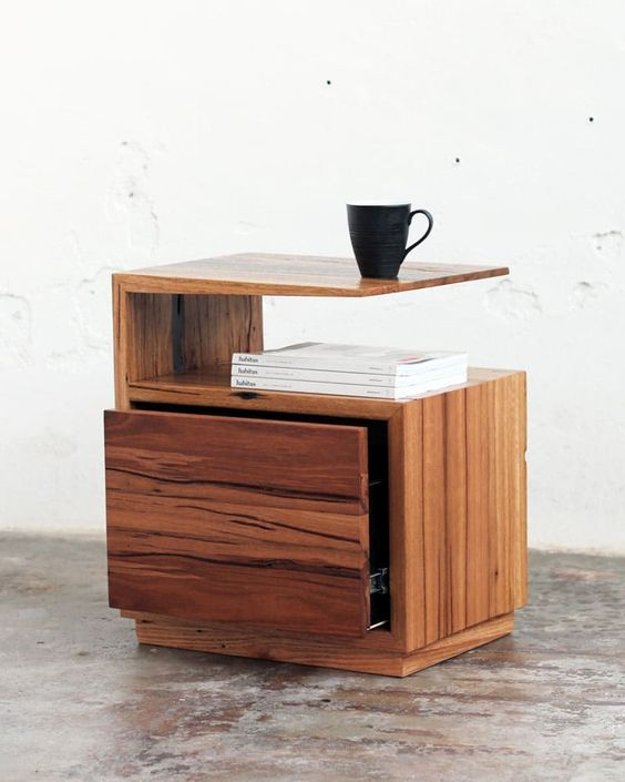 wooden table with top, shelf, drawer