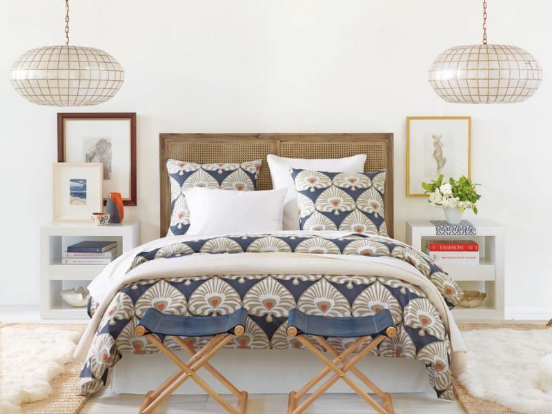 bohemian duvet cover traditional headboard folding stools white nightstands pendant lamps frames white bed shag rugs
