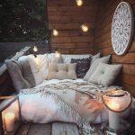 Corner, Wooden Floor, Wooden Wall, Thick Fluffy Mattress, Pillows, Lamps