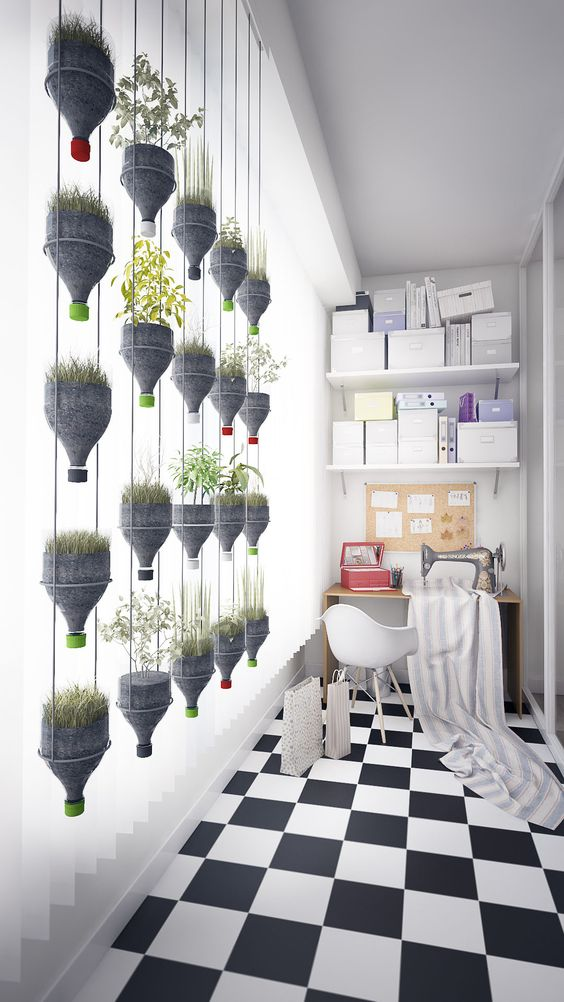 ecofriendly lesswaste diy hanging planter made of recycled plastic bottle