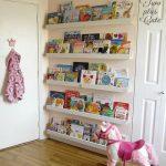 Five Lines Of Floating Bookcase Behind The Door