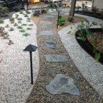 Flagstone Walkway Design Ideas Stone Pebbles Black Outdoor Lighting Outdoor Plants Small Garden White Pebbles