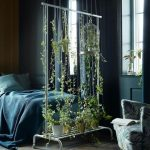 Hanging Plants As Natural Room Divider In Industrial House