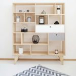 Plywood Bookcase With Drawers