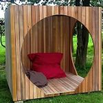 Wooden Slabs Square Box With Round Holes, Pillows