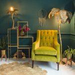 1 Unusual Leaves Tree Shaped Floor Lamp In Modern Victorian Room