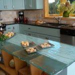 10 Glamorous Glass Worktop In Beach House Kitchen