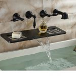 10 Oil Rubbed Bronze Bathroom Wall Mounted Waterfall Faucet