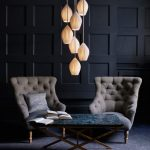 2 Chinese Fin Pendant Lamps For Vintage Modern Look
