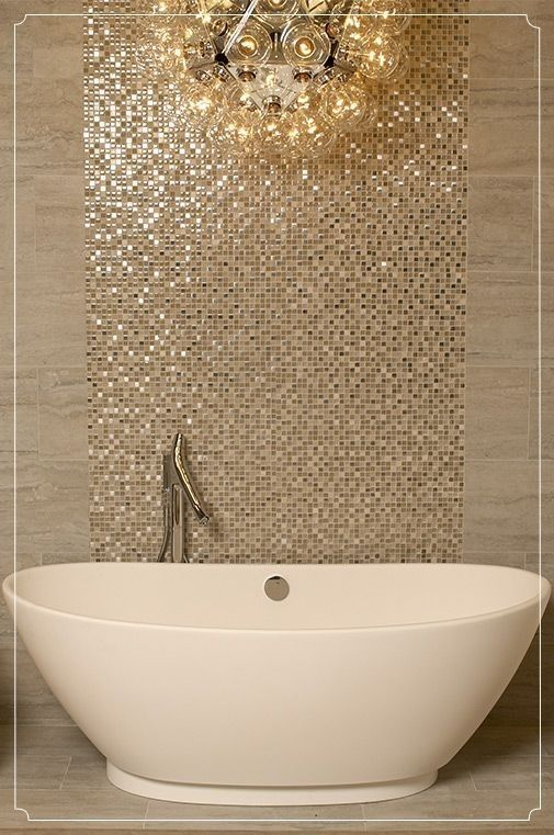 bathroom, marble floor, marble wall, golden mosaic tiles, bulbs pendant, white tub