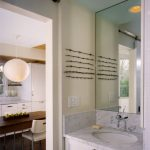 Bathroom Wall Decorating Ideas Barbed Wire White Marble Countertop Undermount Sink White Vanity Wall Mounted Faucet Wall Mirror