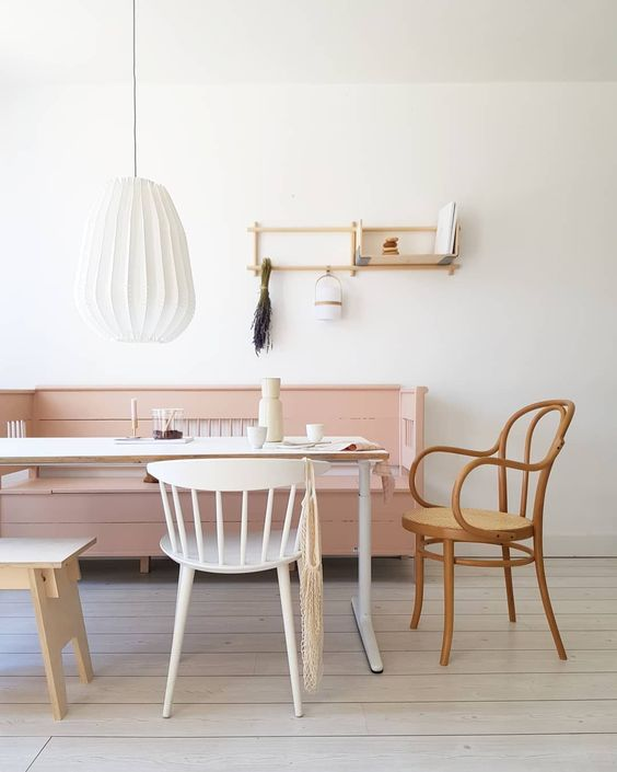 dining set with wooden table, wooden chair with curvy arm rest, light wooden chair, wooden stool, wooden sofa, white lanter